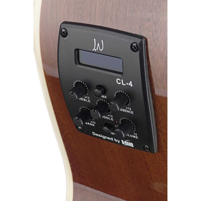JN Guitars Bessie Electro-Acoustic Guitar Dark Cherry Burst CL-4 Preamp