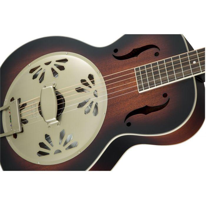 Grestch G9241 Alligator Round Neck Electro-Acoustic Resonator Guitar Padauk Body