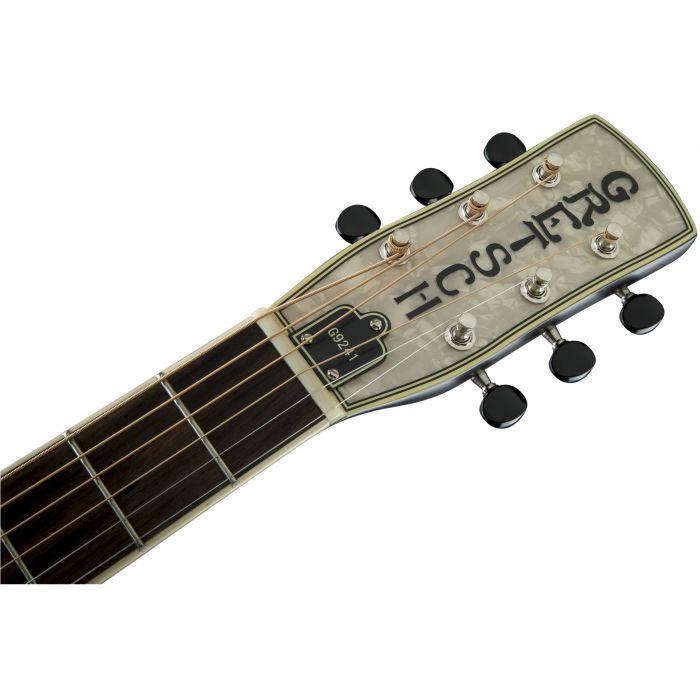 Grestch G9241 Alligator Round Neck Electro-Acoustic Resonator Guitar Padauk Headstock
