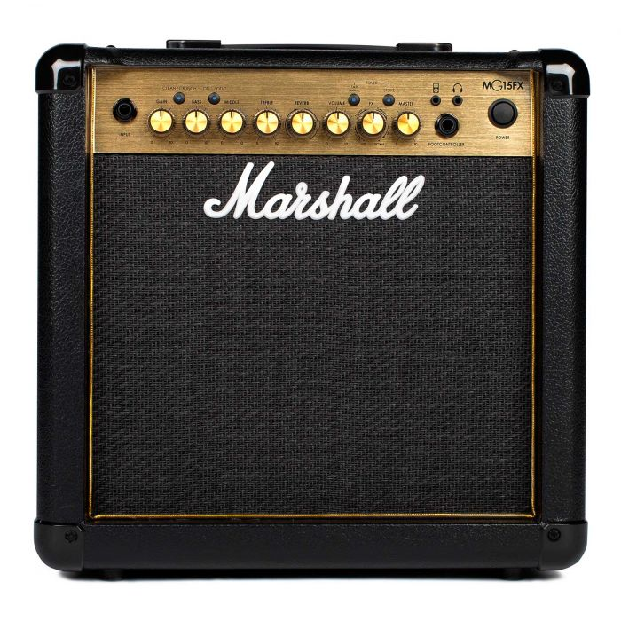 Marshall MG15GFX Guitar Combo Amplifier in Black and Gold