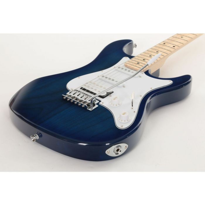 Low Angle of Eastcoast GS100H Deluxe Electric Guitar Trans Blue Burst