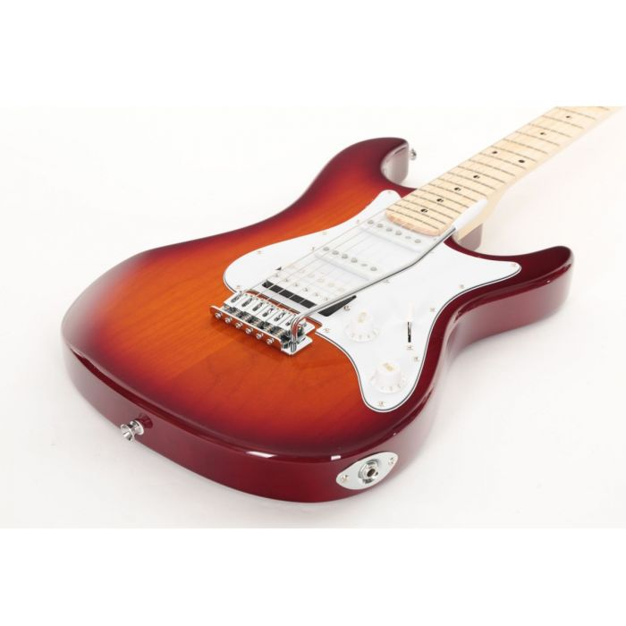 Low Angle of Eastcoast GS100H Deluxe Electric Guitar Tobacco Sunburst