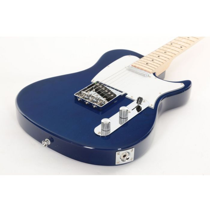 Low Angle of Eastcoast GT100H Deluxe Electric Guitar Trans Blue