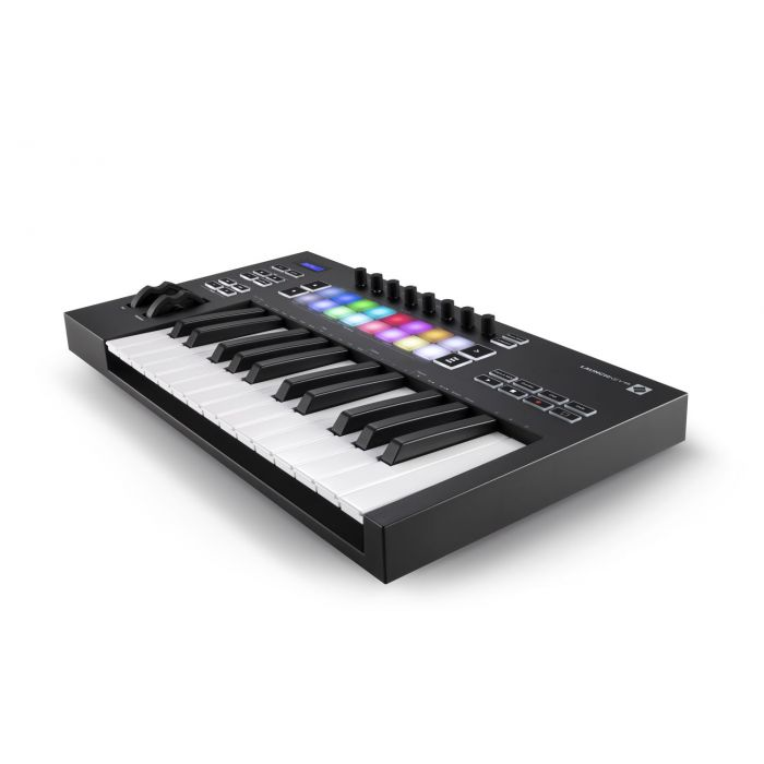 Another Angled View of Novation Launchkey 25 Mk3 USB MIDI Keyboard