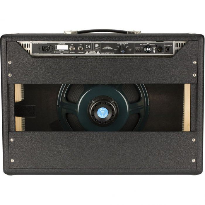 Rear View of Fender Tone Master Deluxe Reverb Combo Amplifier