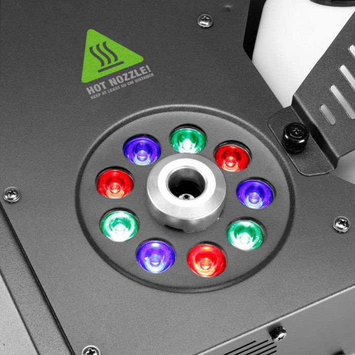 9 LED Lights in Cameo Steam Wizard 1000 Illuminated Fog Machine