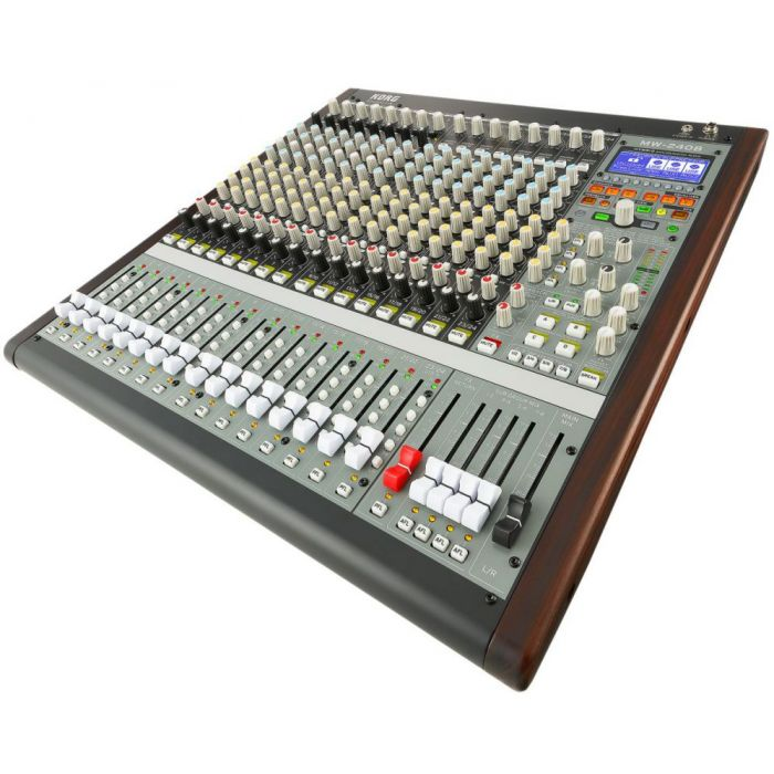 Angled View of Korg SoundLink MW 2408 Hybrid Mixer