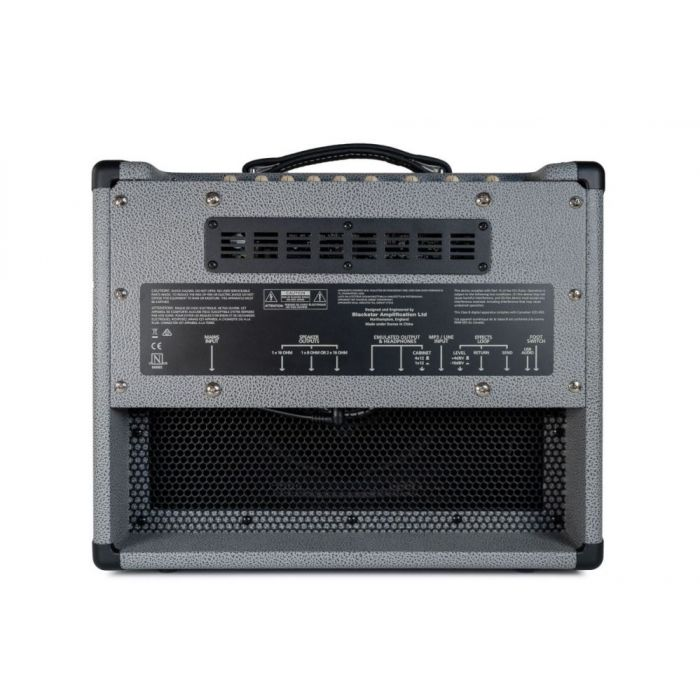 Rear view of a Blackstar Limited Edition HT-5R MKII Guitar Combo, Bronco Grey