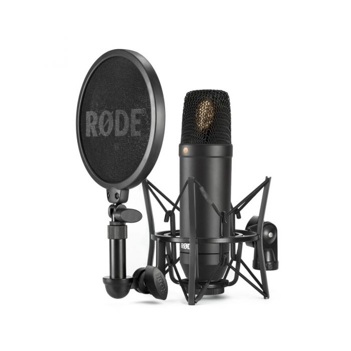Rode NT-1 with SM6 Shock Mount and Pop Filter