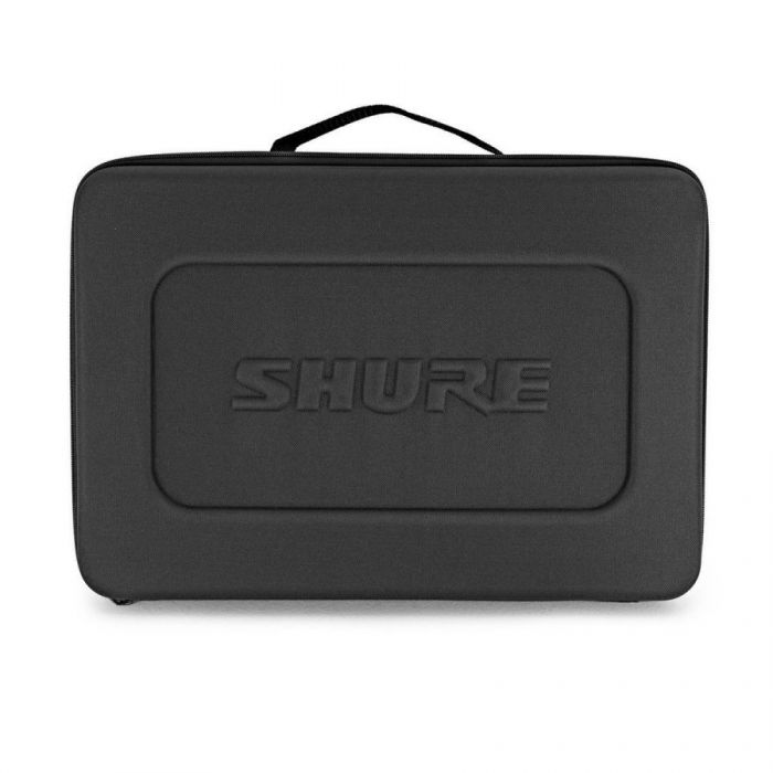 Front view of the carry case for a Shure BLX14UK-SM35 Wireless Headset System