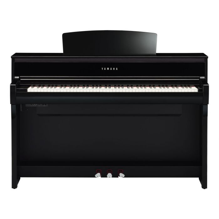 Front View of Yamaha CLP-775 Digital Piano Polished Ebony