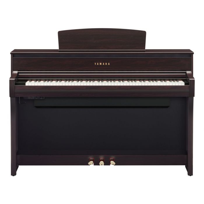 Front On View of Yamaha CLP-775 Digital Piano Rosewood
