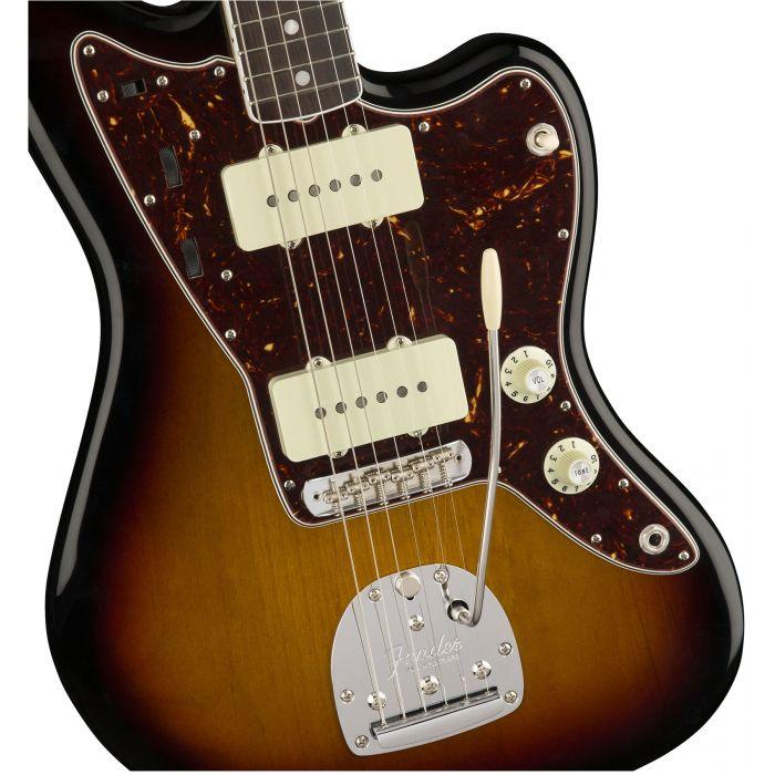 Fender American Original '60s Jazzmaster 3-Colour Sunburst Body Detail