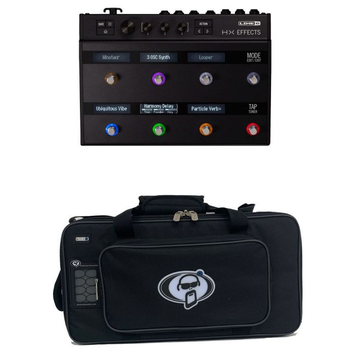 Full view of a Line 6 Helix HX Effects with Free Soft Case