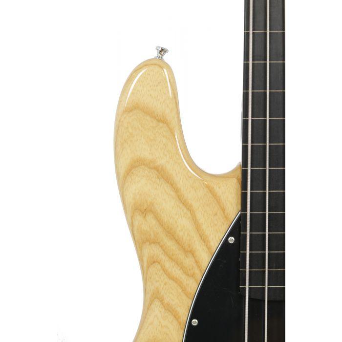 Sandberg California II TM 4-S Natural swamp ash fretless bass guitar