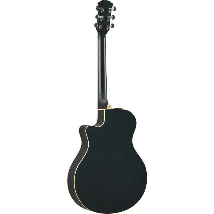 Yamaha APX 600 Acoustic Guitar Oriental Blue Burst Back