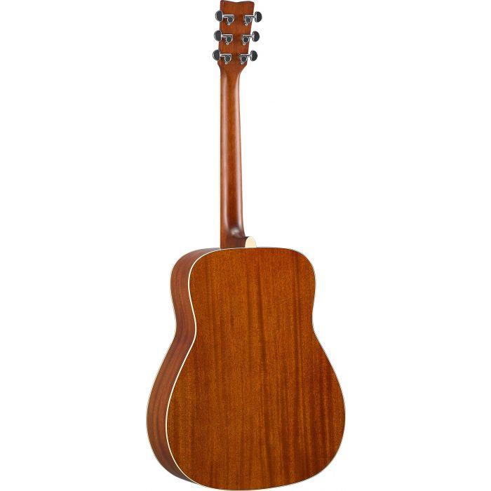 Yamaha FG-TA TransAcoustic Guitar Brown Sunburst Back