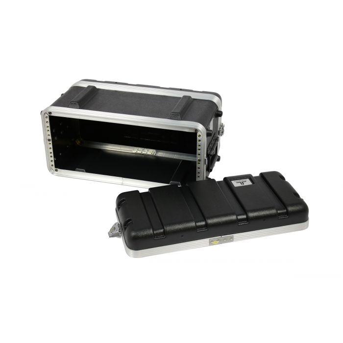 TOURTECH TTABS-4US ABS Four Unit 19 Inch Shallow Rack Case Open