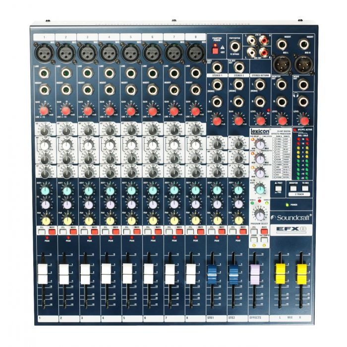 Soundcraft EFX8 Mixing Console Top View