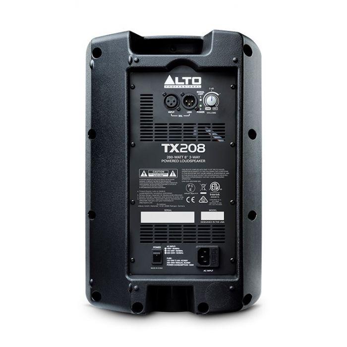 Alto TX208 300-Watt Active Loudspeaker Rear