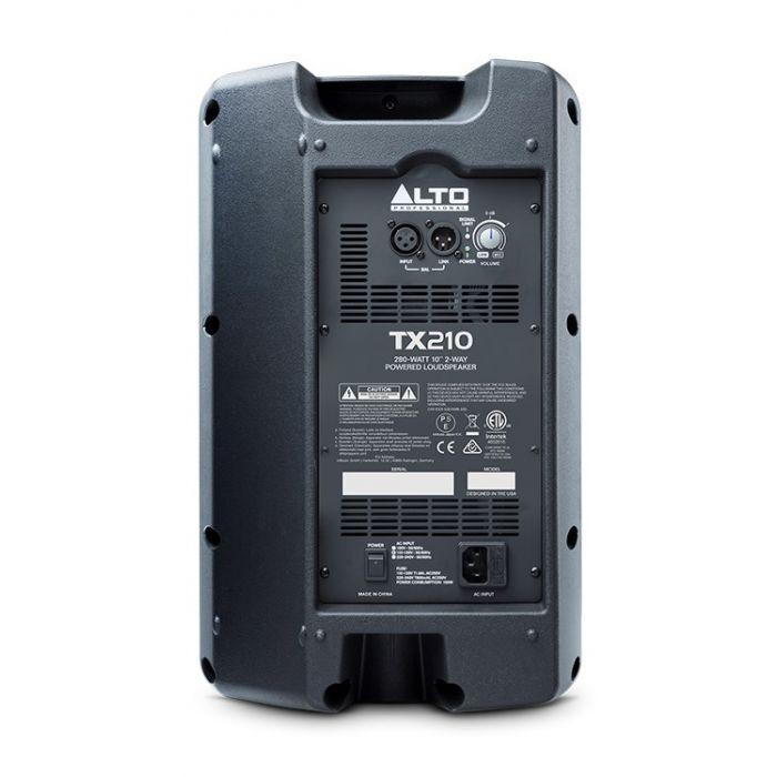 Alto TX210 300-Watt Active Loudspeaker Rear