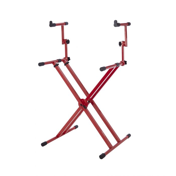 Gator Frameworks Deluxe 2-Tier Keyboard Stand Nord Red