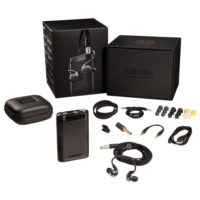 Shure KSE1200 Electrostatic Earphone System with Accessories