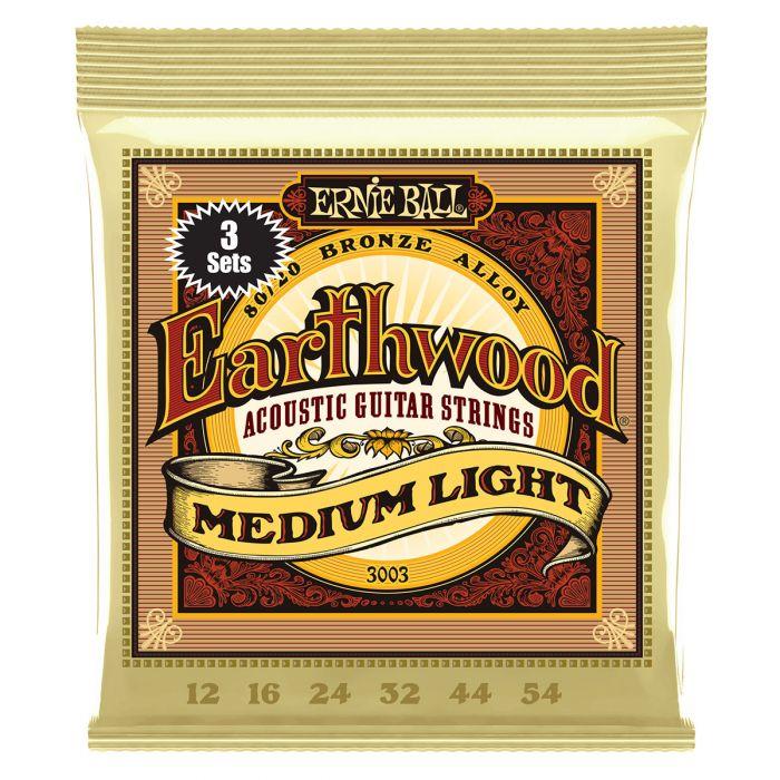 Ernie Ball Earthwood Medium Light 80/20 Bronze Acoustic Guitar Strings 3-Pack