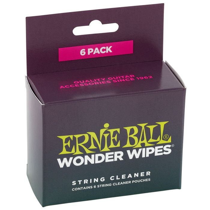 Ernie Ball Wonder Wipes String Cleaners 6-Pack