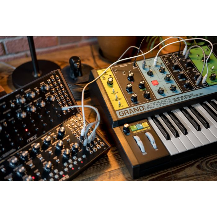 Lifestyle view with Modular Synths