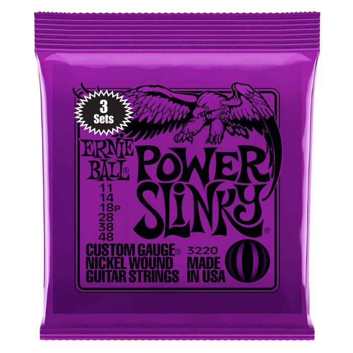 Ernie Ball Ernie Ball Power Slinky Electric Guitar Strings 3-Pack