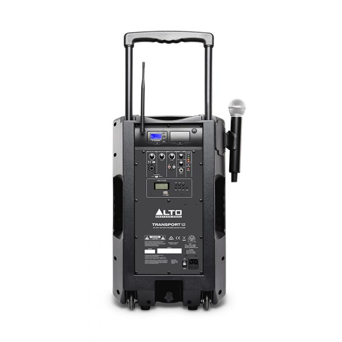 Alto Transport 12 Battery Powered Portable PA System with Wireless Microphone Rear