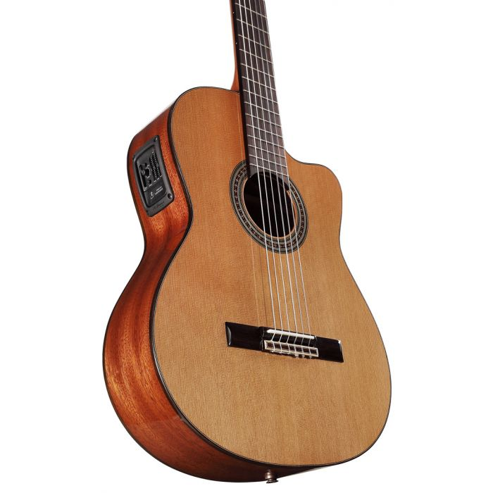Alvarez AC65HCE Classical Hybrid Electro Acoustic Cutaway Natural