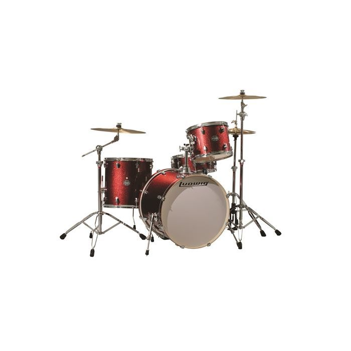 Ludwig Element Icon Red Wine 4-Piece Drum Kit