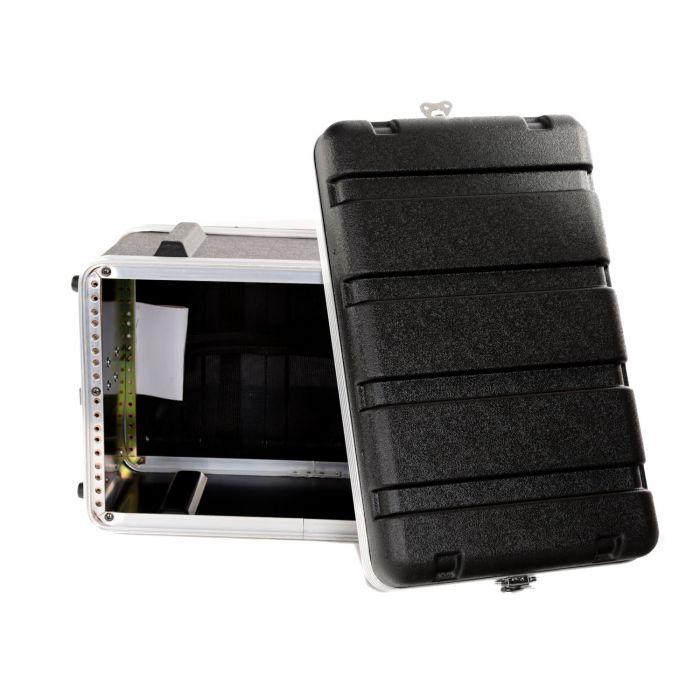 TOURTECH TTABS-6US ABS Six Unit 19 Inch Shallow Rack Case Open