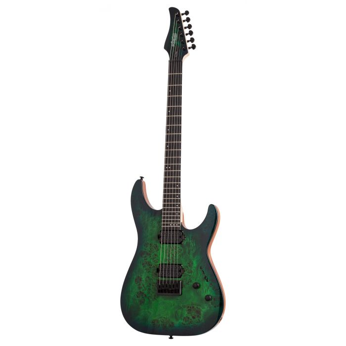 Schecter C-6 Pro Electric Guitar in Aqua Burst