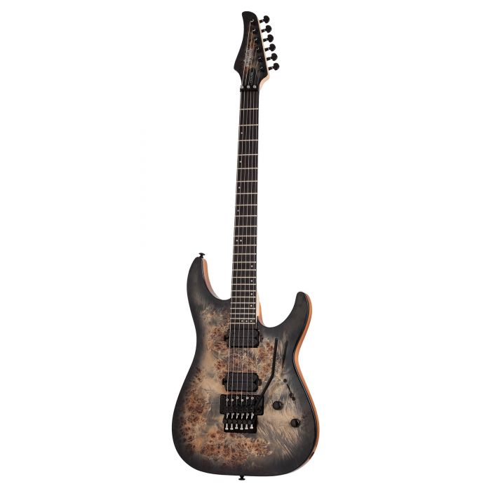 Schecter C-6 FR Pro Electric Guitar in Charcoal Burst with Floyd Rose