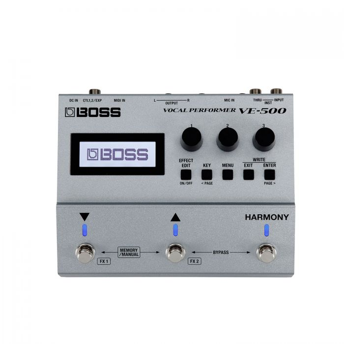 Boss VE-500 Vocal Performer Effects and Harmoniser Pedal