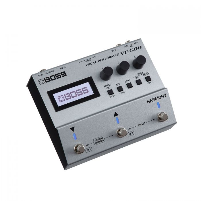 Boss VE-500 Vocal Performer Effects and Harmoniser Pedal Angle