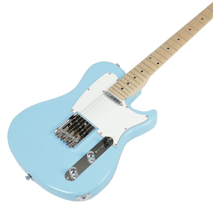 Eastcoast GT100-LPB SS Electric Guitar Lake Placid Blue Angle
