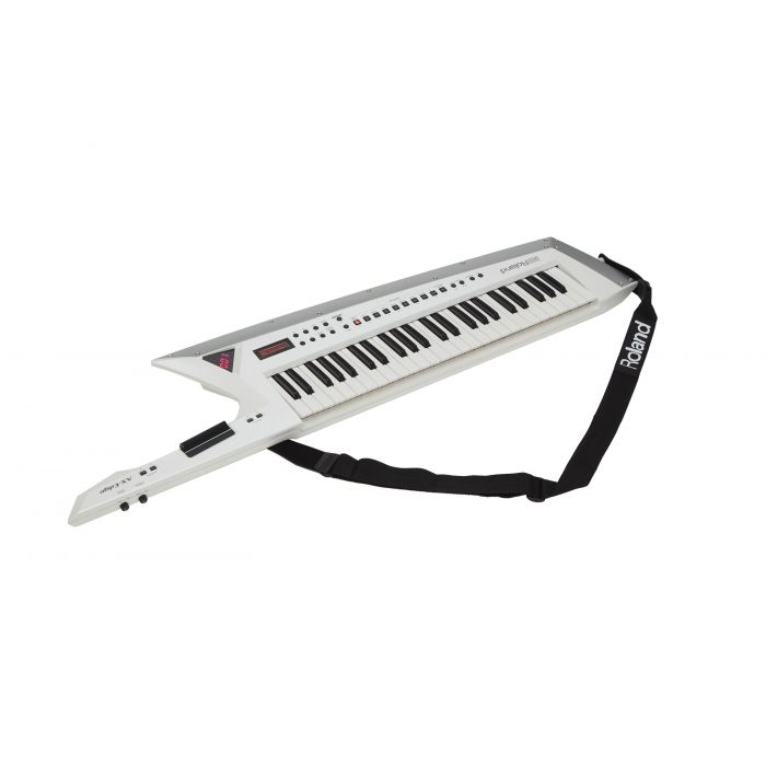 Roland AX-Edge Keytar Guitar Synthesizer White with Strap