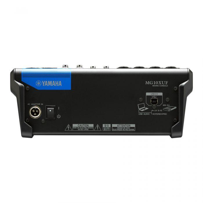 Yamaha MG10XUF 10-Channel USB Mixer Rear