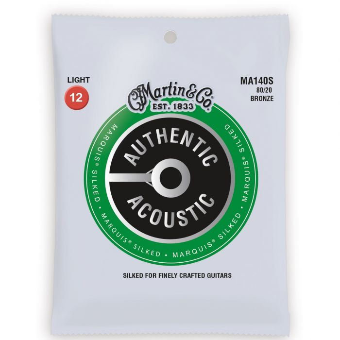 Martin Authentic Acoustic Marquis Silked 80/20 Bronze Light Guitar Strings