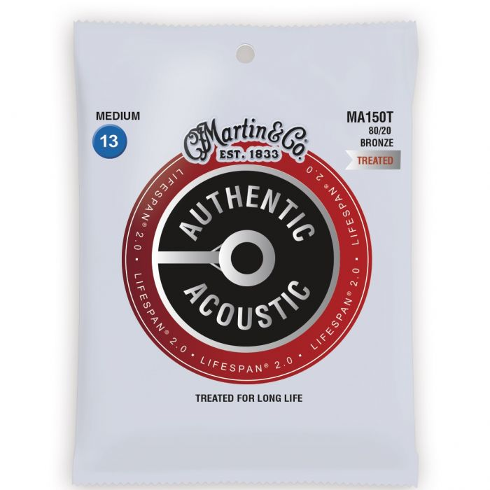 Martin Authentic Acoustic Lifespan 2.0 80/20 Bronze Medium Guitar Strings