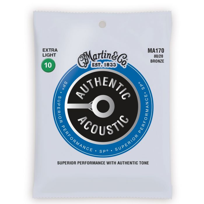 Martin Authentic Acoustic SP 80/20 Bronze Extra Light Guitar Strings