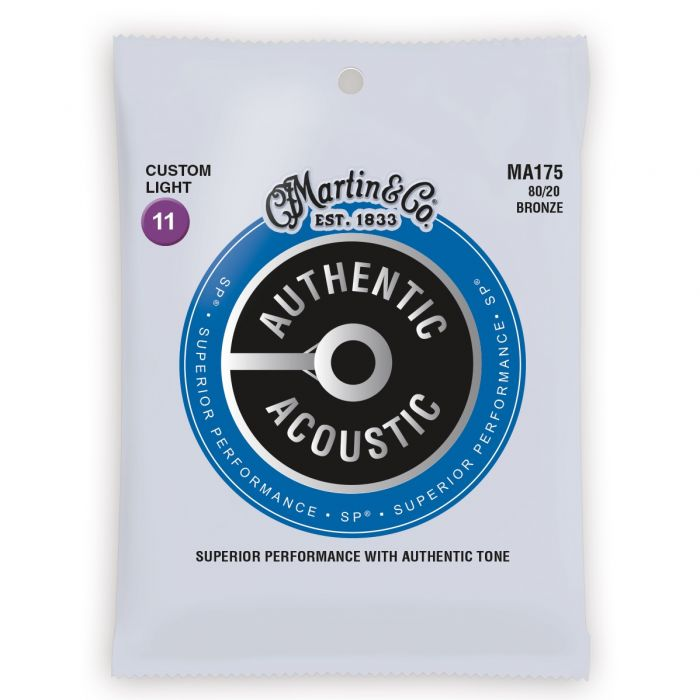 Martin Authentic Acoustic SP 80/20 Bronze Custom Light Guitar Strings