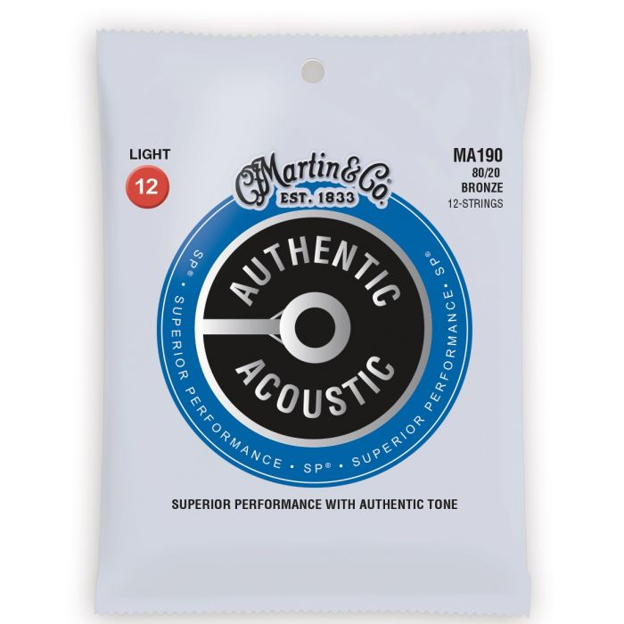 Martin Authentic Acoustic SP 80/20 Bronze Light 12 String Guitar Strings