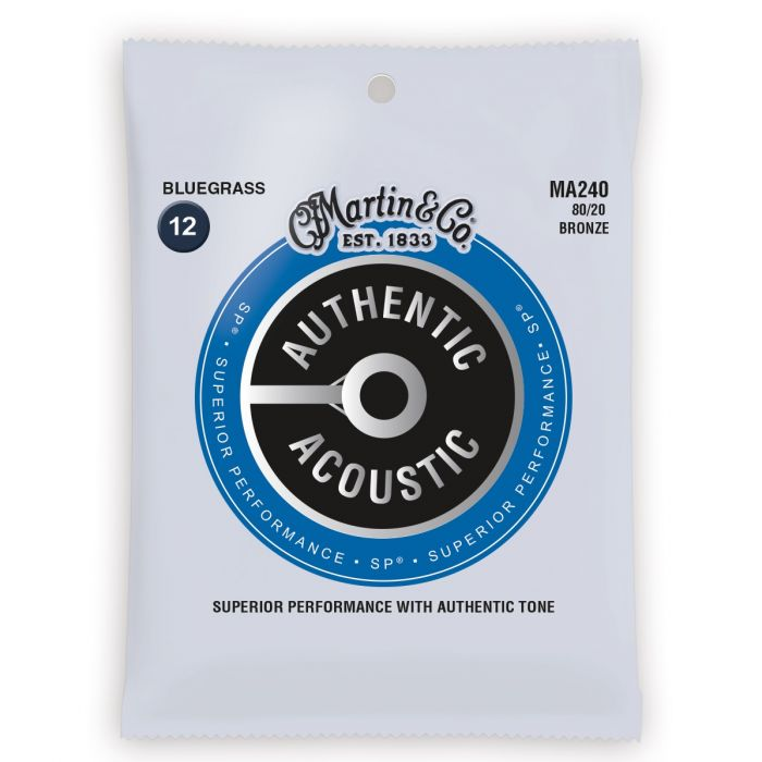Martin Authentic Acoustic SP 80/20 Bronze Bluegrass Guitar Strings