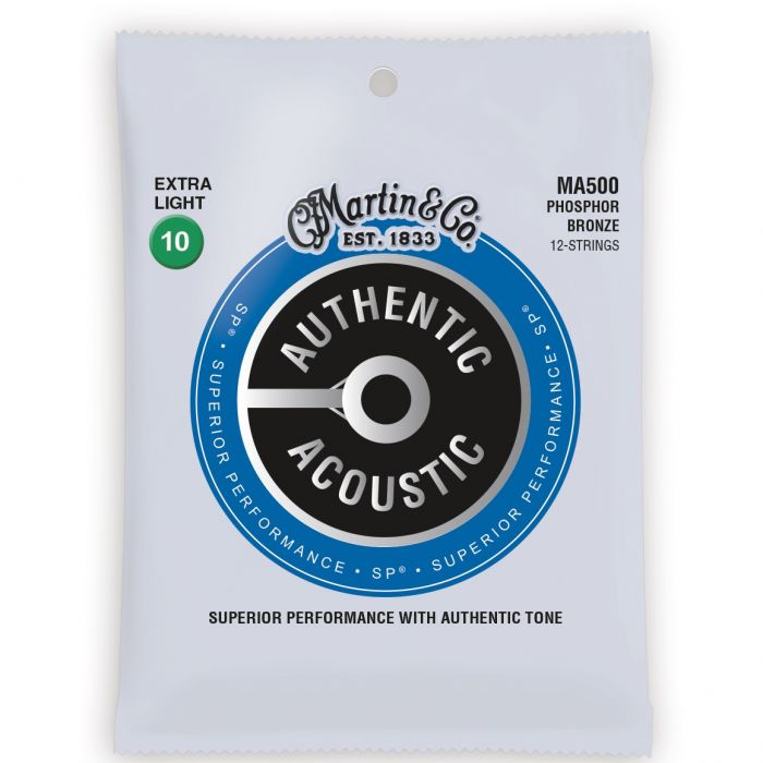 Martin Authentic Acoustic SP Phosphor Bronze Extra Light 12 String Guitar Strings
