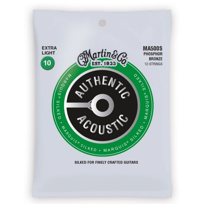 Martin Authentic Acoustic Marquis Silked Phosphor Bronze Extra Light 12 String Guitar Strings